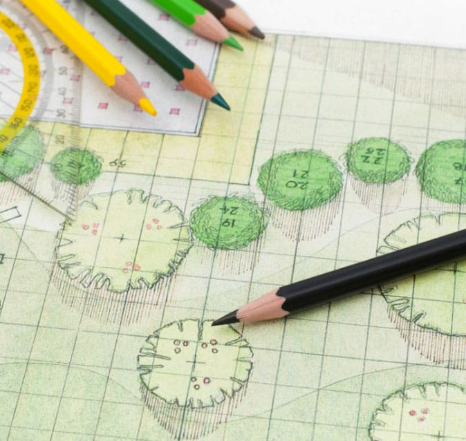 Design document outlining landscaping plans
