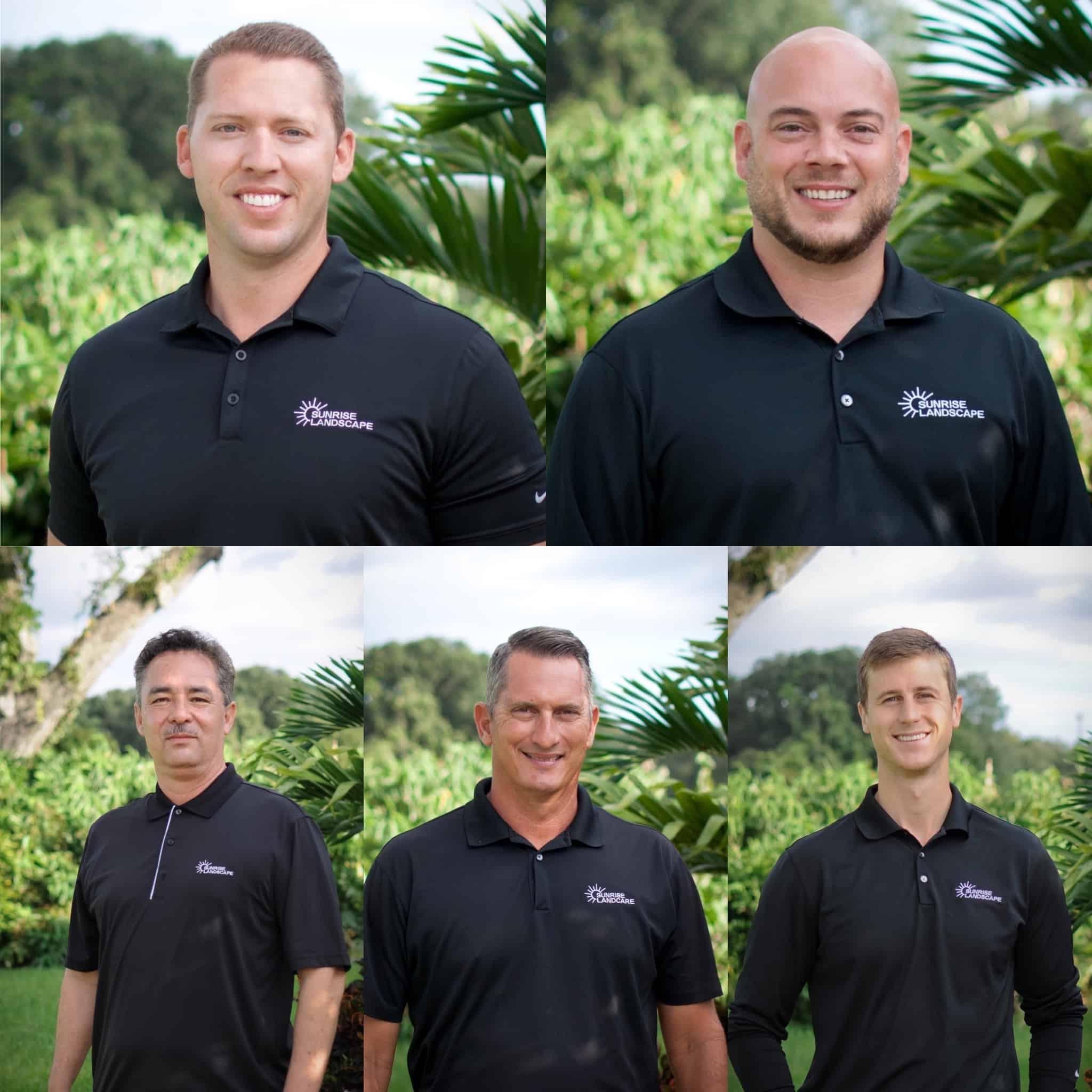 Sunrise Landscape employees in company attire